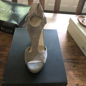 Suede & leather grey wedge-Kenneth Cole Brand